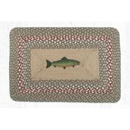 Fish Oblong Patch Braided Rug