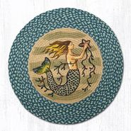 Mermaid Round Patch Braided Rug