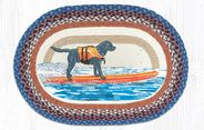 Surfing Lab Oval Patch Braided Rug