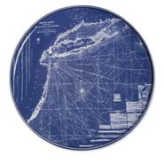 Eastern Seaboard Chart Coupe Platter