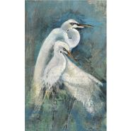 Egret Pair Custom Sign