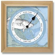 Fish Nautical Chart Custom Tide Clock