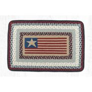 Flag Oblong Patch Braided Rug