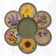 Flowers Trivets in a Basket
