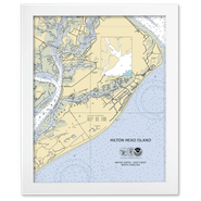 Framed Custom Nautical Chart