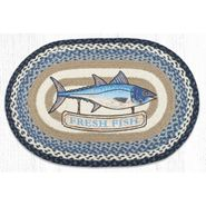 Fresh Fish Oval Patch Braided Rug