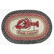 Fresh Lobster Oval Patch Braided Rug