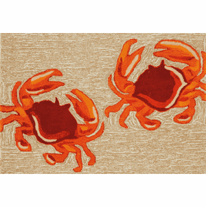 Front Porch Crab Natural Rug