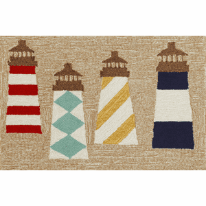 Front Porch Lighthouse Natural Rug