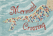 Front Porch Mermaid Crossing Water Rug