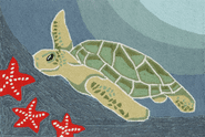 Front Porch Sea Turtle Ocean Rug