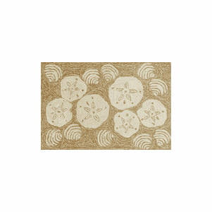 Front Porch Shell Toss Natural Rug
