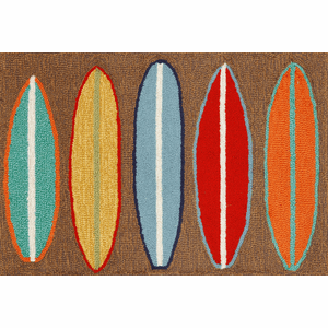 Front Porch Surfboards Brown Rug