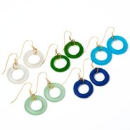 Seaglass Gold Simple Style Earrings