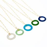 Seaglass Gold Simple Style Necklace