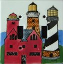 Handpainted Lighthouse Light Switch Plate