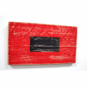 Hurricane Warning Wooden Flag
