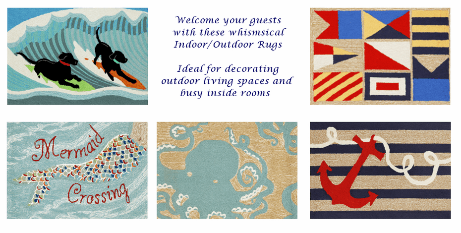 Welcome your guests with these indoor & outdoor rugs!