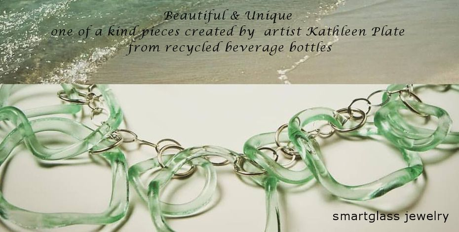 Smart Glass Jewelry - Unique & Beautiful Jewelry made from recycled bottles!