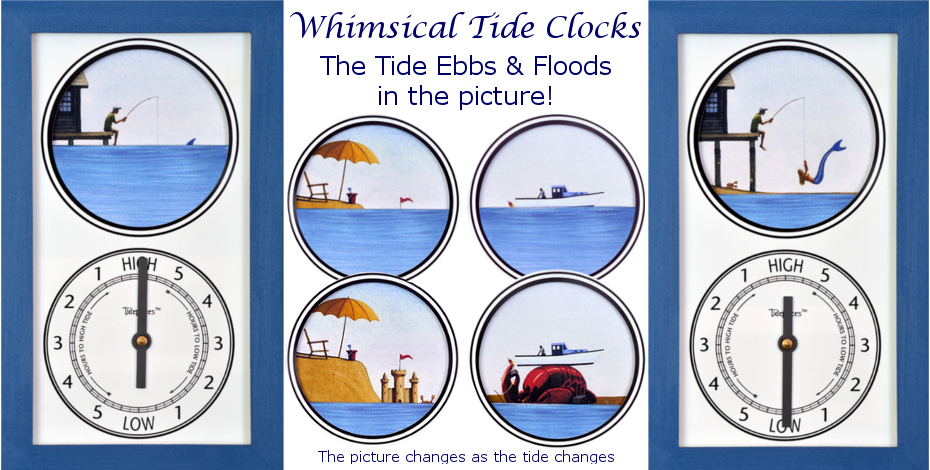 Watch the tide Ebb and Flood in these unusual clocks!