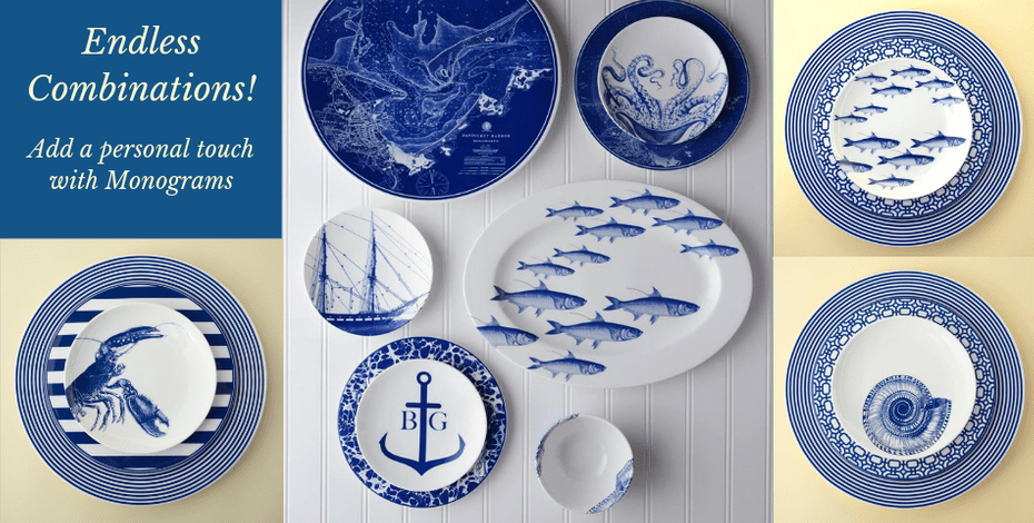 Coastal dinnerware collections
