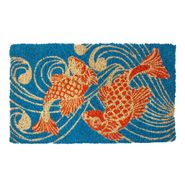 Koi Fish Handwoven Coconut Fiber Door Mat