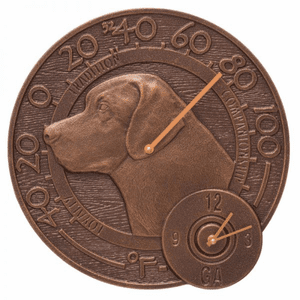Labrador Indoor Outdoor Wall Clock Thermometer (AC)