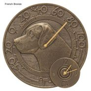 Labrador Indoor Outdoor Wall Clock Thermometer Combo