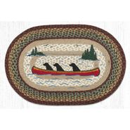 Labs in Canoe Oval Patch Braided Rug