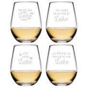 Lake Talk Assortment Stemless Tumblers - S/4