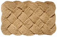 Large Knot-ical Hand Woven Coconut Fiber Doormat