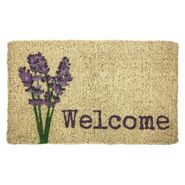 Lavender Welcome Handwoven Coconut Fiber Door Mat