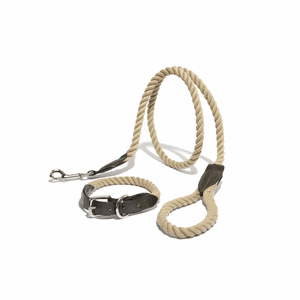 Leather and Rope Collar
