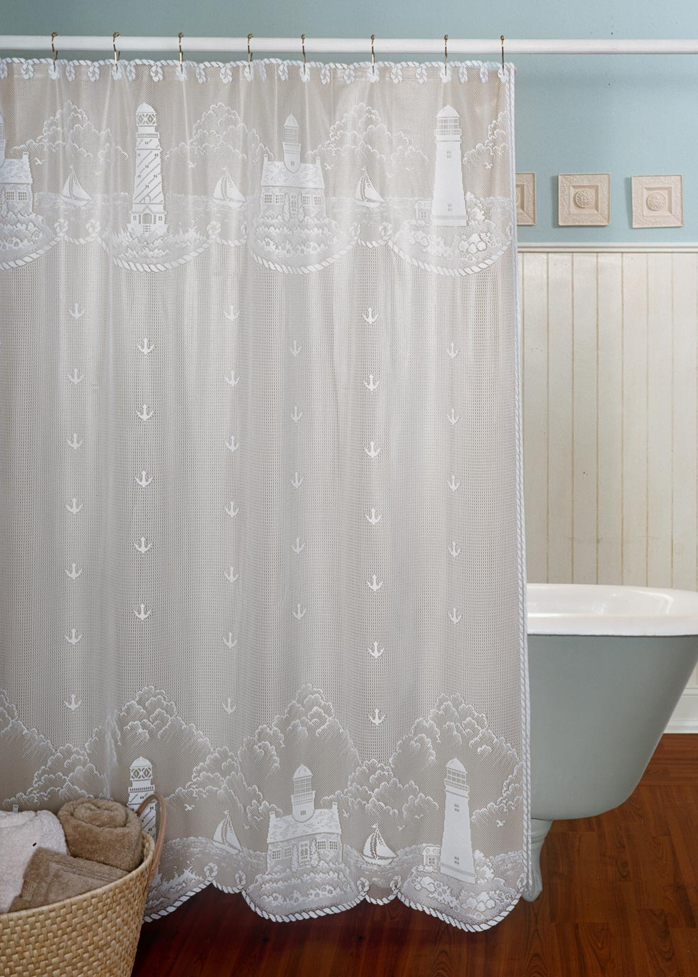 Heritage Lace Lighthouse Shower Curtain