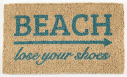 Lose Your Shoes Hand Woven Coconut Fiber Doormat