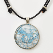 Medium Chart Necklace on Cord