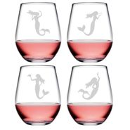 Mermaid Assortment Stemless Tumblers - S/4