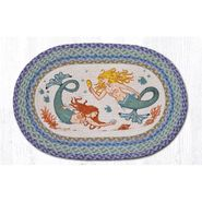 Mermaids Oval Patch Braided Rug