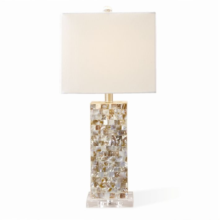 Two S Company Mother Of Pearl Table Lamp Coastal Gifts