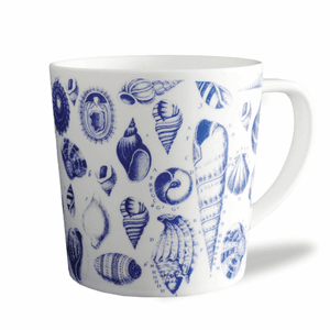 Multi Shells Blue Mug - S/2