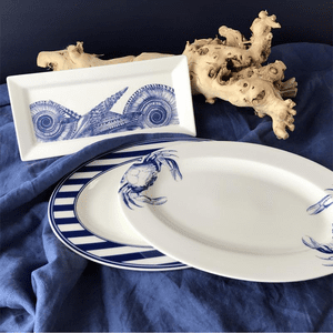 Multi Shells Blue Petite Serving Tray