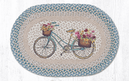 My Bicycle Oval Patch Braided Rug