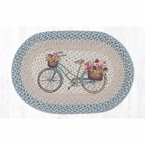 My Bicycle Oval Patch Rug