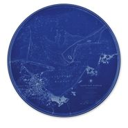 Nantucket Chart Coupe Platter