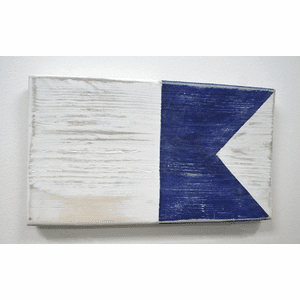 Nautical Alphabet Wooden Signal Flag - A