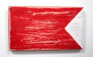 Nautical Alphabet Wooden Signal Flag - B