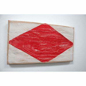 Nautical Alphabet Wooden Signal Flag - F