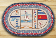 Nautical Breeze Oval Patch Braided Rug