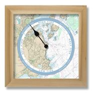Nautical Chart Custom Tide Clock