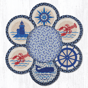 Nautical Trivets in a Basket
